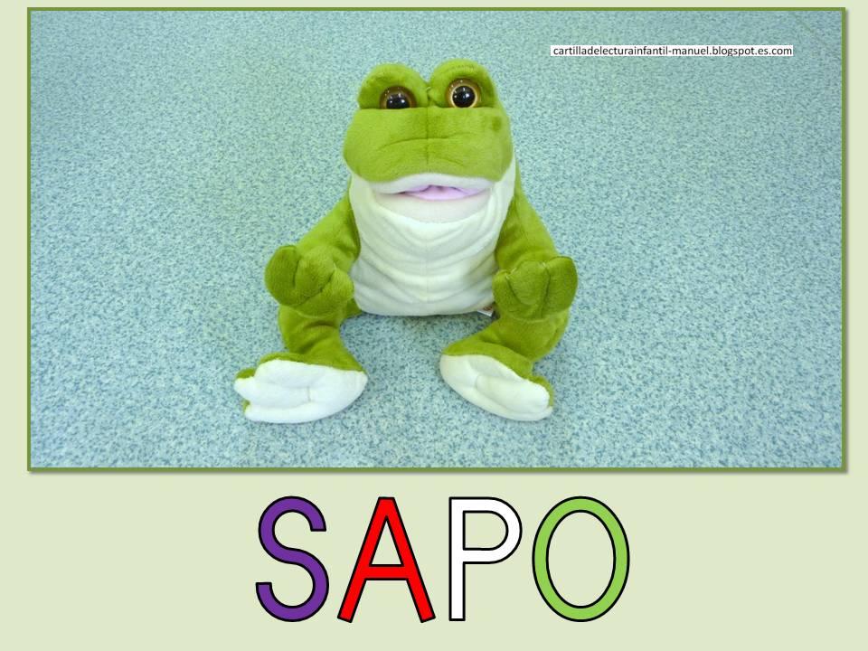 Cartilla De Lectura Infantil: CARTILLA DE LECTURA INFANTIL : SAPO Juguete