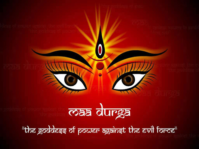 Maa Durga Eyes Wallpaper