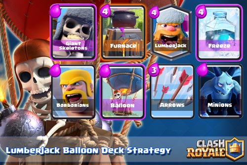 Deck Lumberjack Balloon Arena 8 Clash Royale