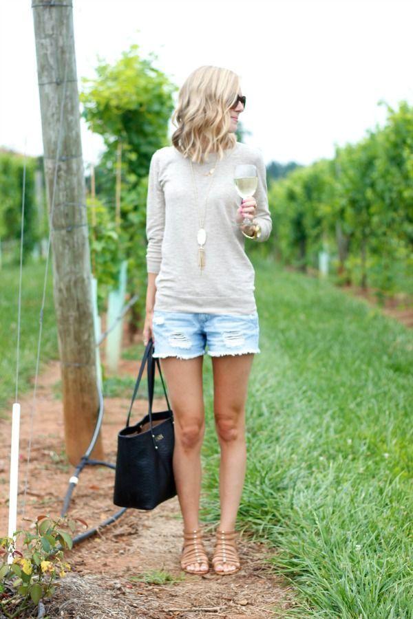 Fashion Inspiration | Celebrities denim shorts 27 New ...