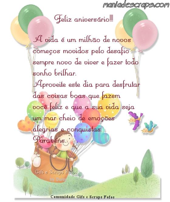 Tag Frases De Feliz Aniversario Para Filho 1 Aninho