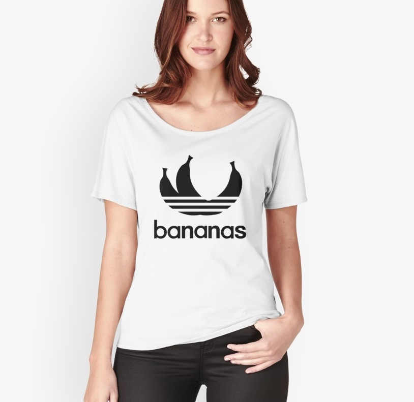 Super trendy Bananas parody logo T-shirts
