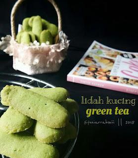 Ide Resep Kue Kering Lidah Kucing Green Tea