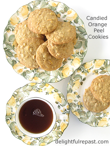 Candied Orange Peel Cookies / www.delightfulrepast.com