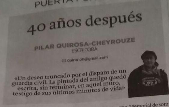 PILAR QUIROSA-CHEYROUZE: 40 años después