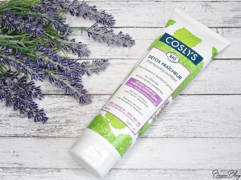 Coslys szampon do włosów przetłuszczających się, dobry szampon, łagodny szampon, naturalny szampon