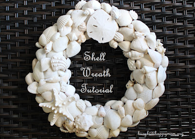 How to make your own shell wreath from collected shells.