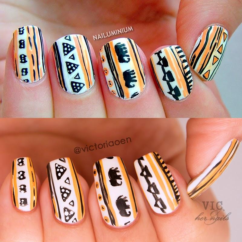 Vic and Her Nails: VicCopycat - H&M Tribal Nail Art by Nailuminium