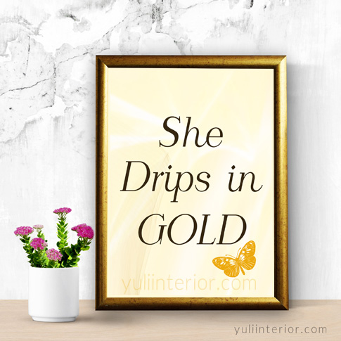 She drips in Gold Wall Frame in Port Harcourt Nigeria