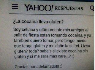 La cocaína lleva gluten?