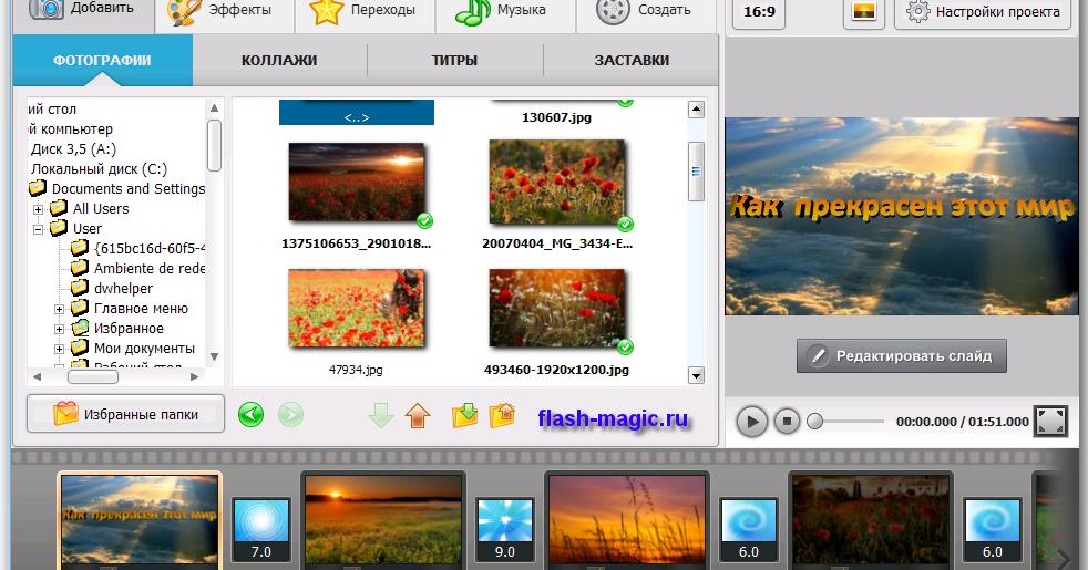 целостности программы для создания слайдов фотошоу щенок