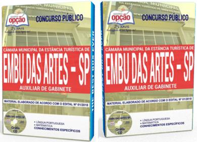 apostila concurso Câmara de Embu das Artes sp Auxiliar de Gabinete