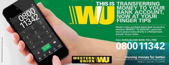 how to send money to western union from bank account