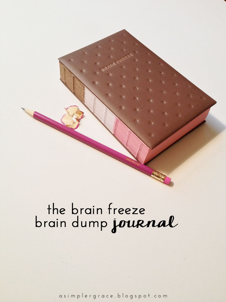 The Brain Freeze - Brain Dump Journal - A closer look at the Brain Freeze Journal by Potter