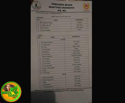 Dua atlit MuayThai Subang Tovan Novian dan SitiJil Halimah sebagai perwakilan dari Jawa Barat