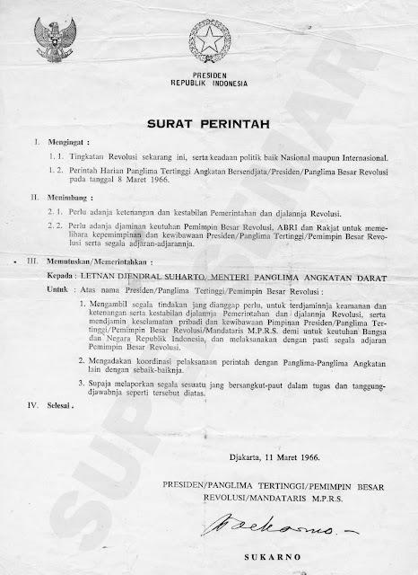 Gambar Supersemar versi TNI Angkatan Darat