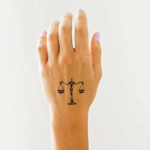 best small libra and roses tattoos