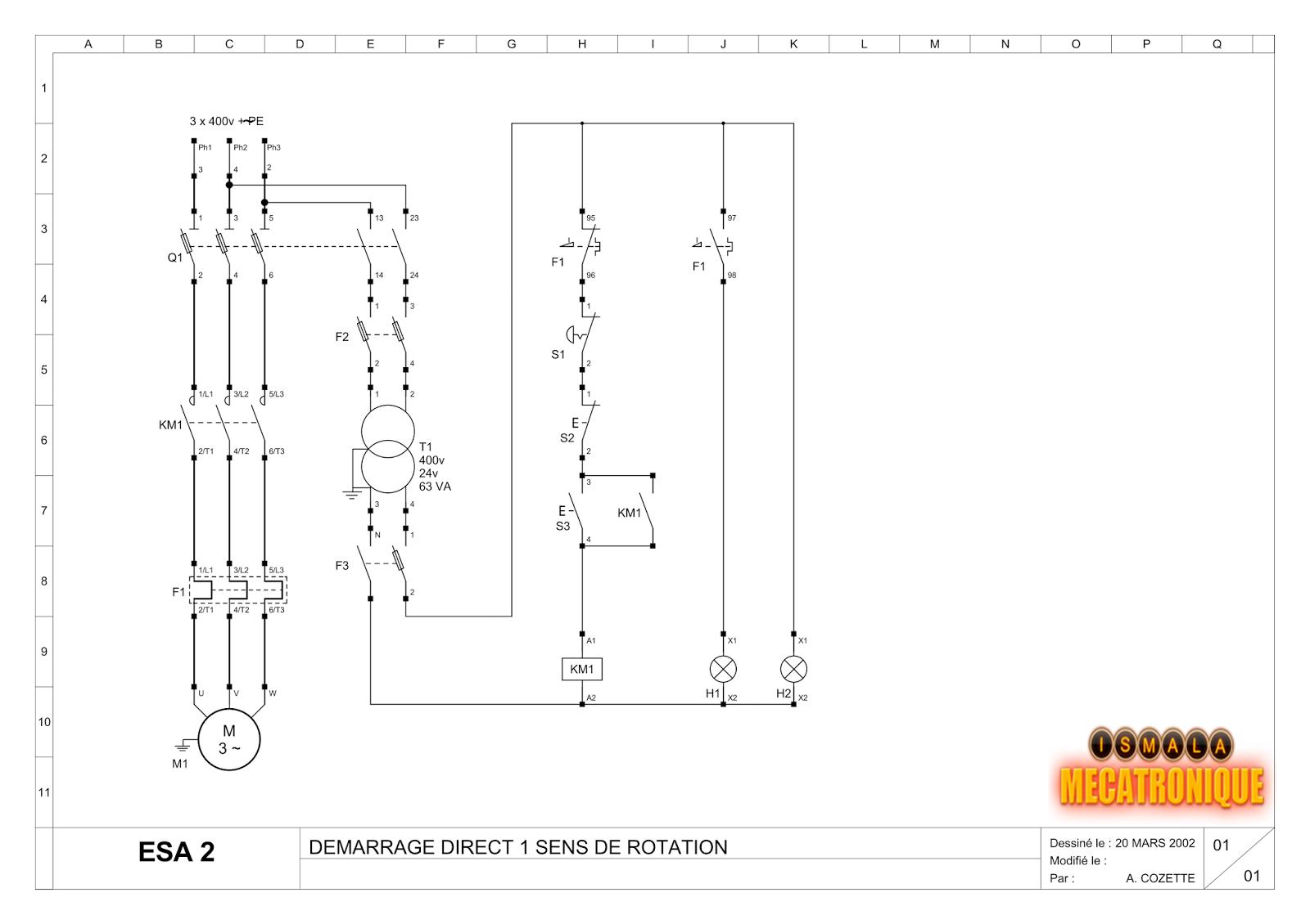 21 sch mas de d marrage d un moteur asynchrone mecatronique. Black Bedroom Furniture Sets. Home Design Ideas