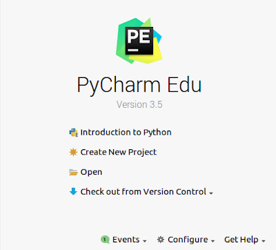 Launch PyCharm Edu IDE