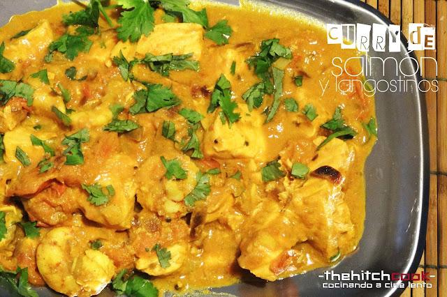 Curry de Salmón y langostinos para pescados que enamoran
