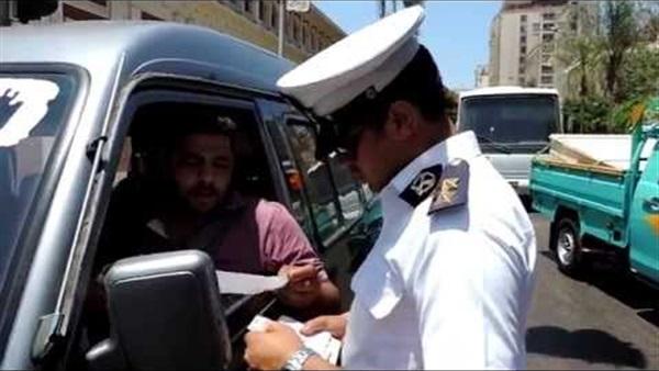 مرور الشرقية تشن حملة للكشف علي السائقين المتعاطين المخدرات
