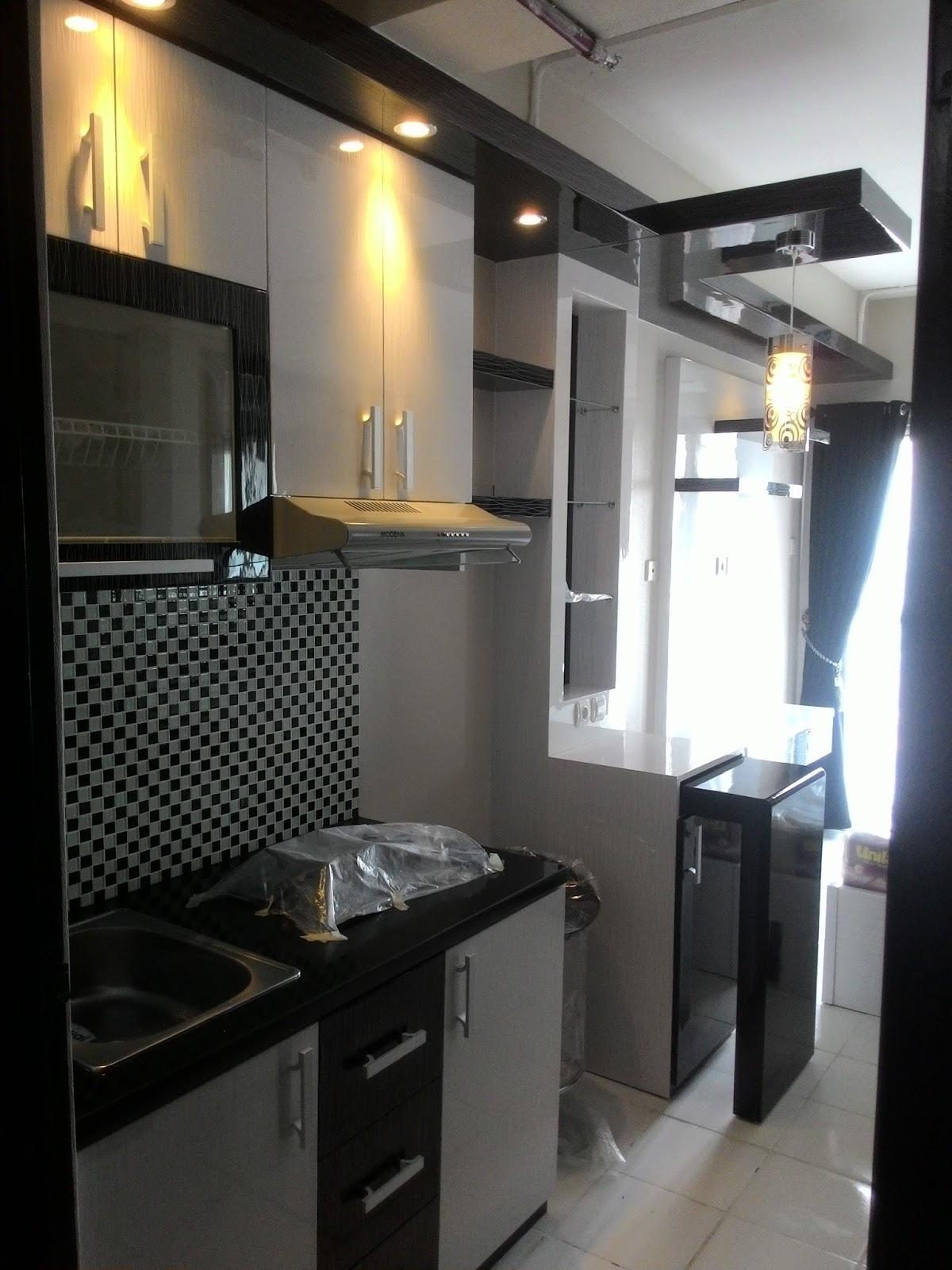 CV TRIDAYA INTERIOR Kitchen Set Apartemen Minimalis Modern