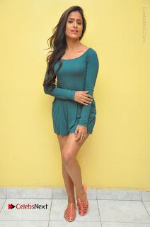 Telugu Actress Prasanthi Stills in Green Short Dress at Swachh Hyderabad Cricket Press Meet  0127.JPG