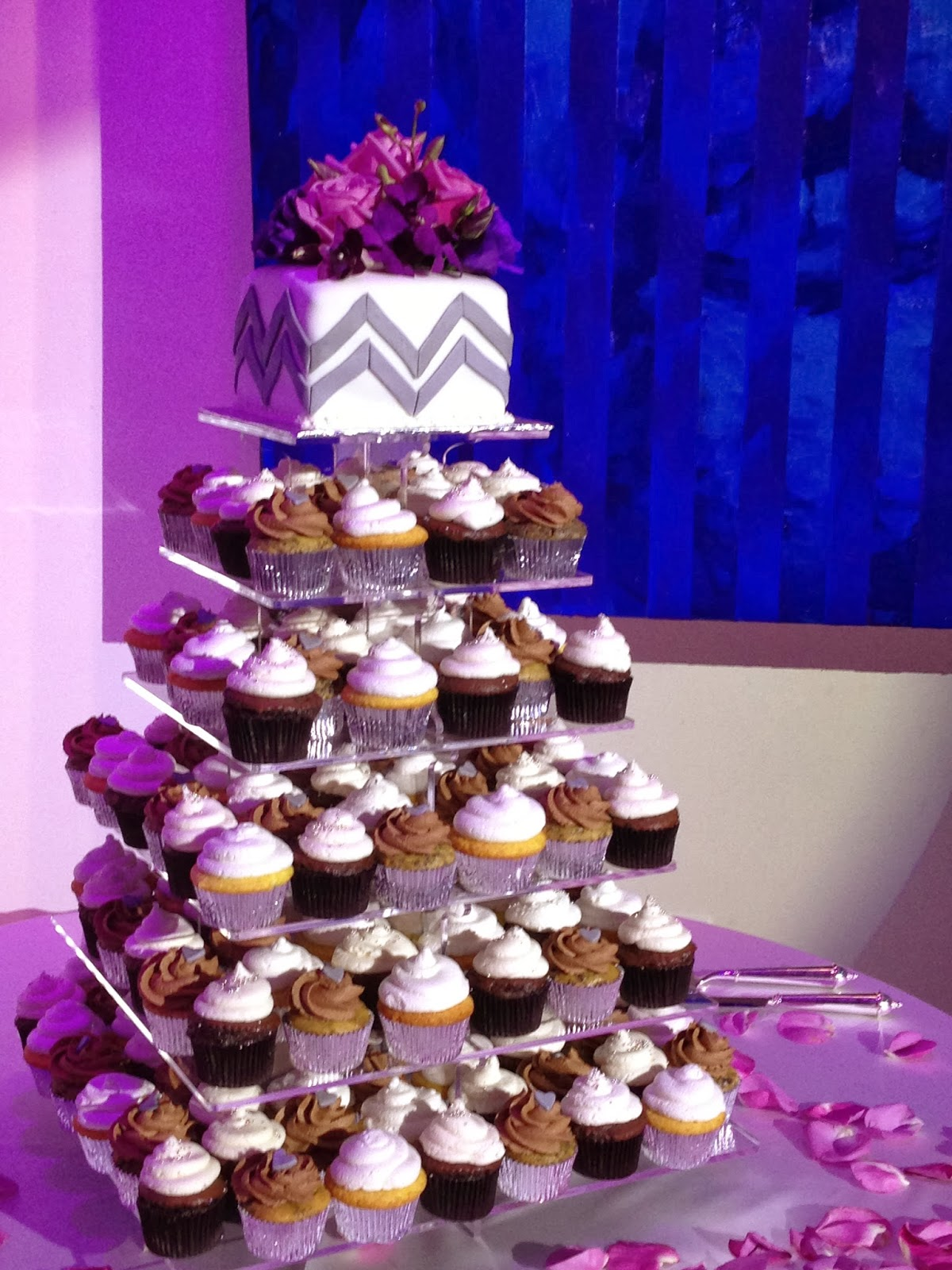 Plumeria Cake Studio Modern Square Wedding Cupcake Tower