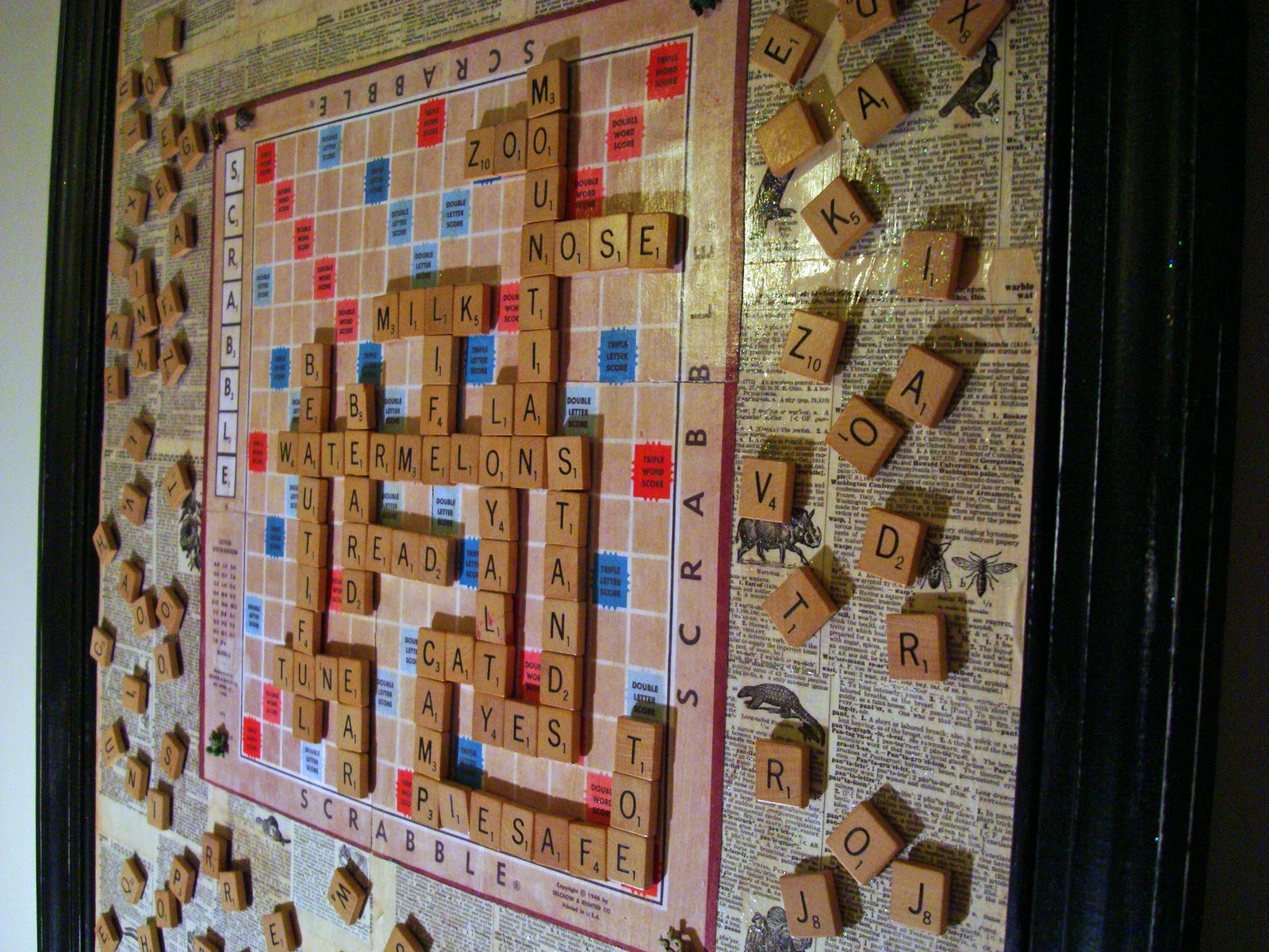 How To Make A Scrabble Magnet Message Board The