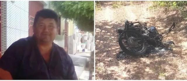 Em São Julião, motocicleta incendeia após tocar em fio de alta tensão