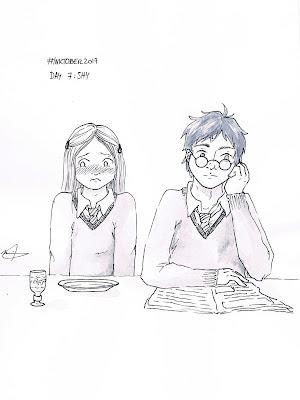 Inktober 2017 day 7 Harry Potter Ginny Weasley shy