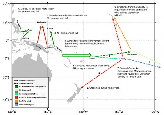 Study finds climate helped guide early Pacific seafarers