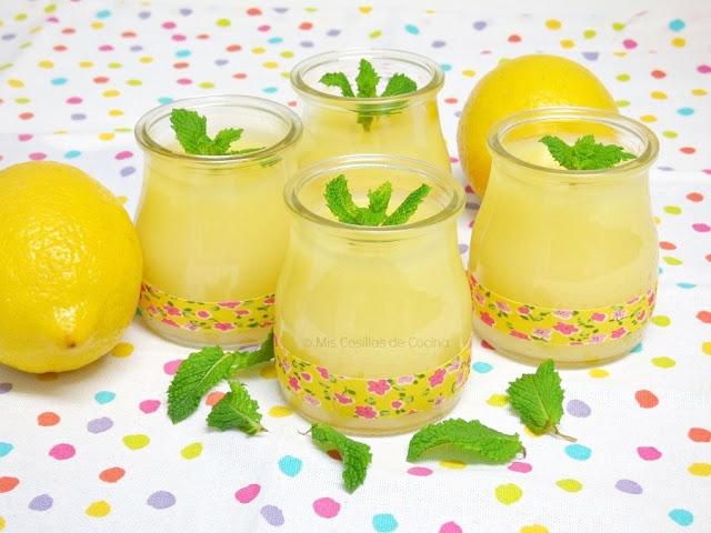 sencilla receta de crema de limon