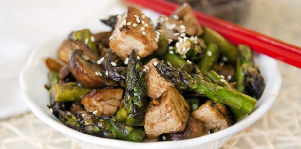 Savory Orange-Roasted Tofu & Asparagus , Weight Watchers Recipe , 4 Smart Points