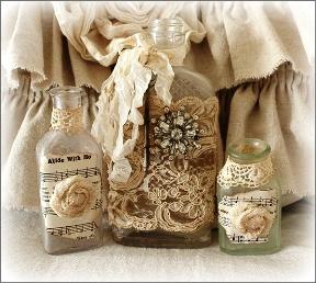 Kerajinan Tangan Dari Botol Bekas - Bunga Kain Goni