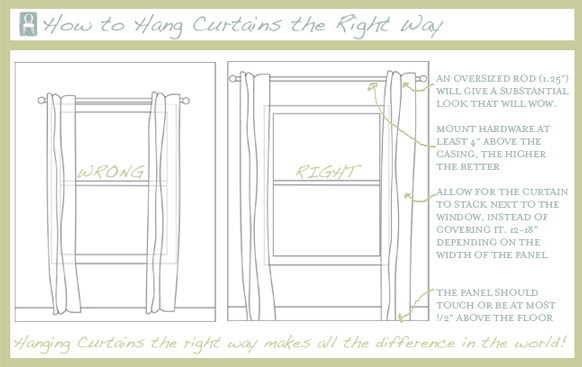Notes From Pembroke Hall How To Hang Curtains Correctly