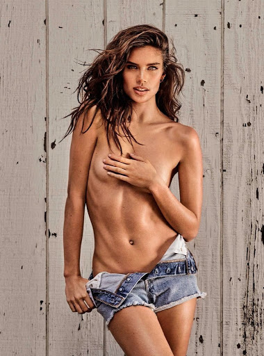 sara sampaio topless photo shoot for gq spain magazine