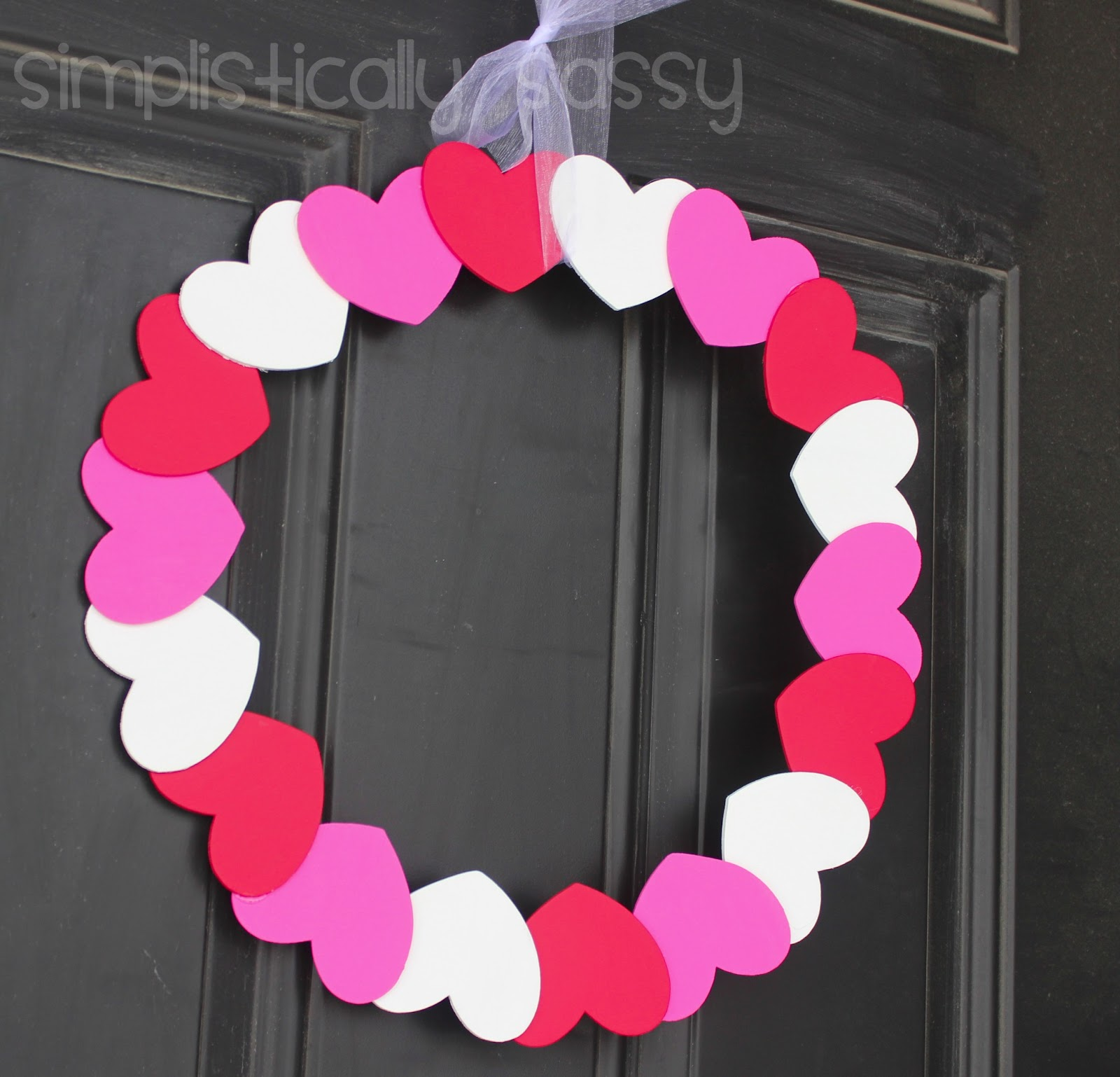 valentine 39 s day wreath by simplistically sassy. Black Bedroom Furniture Sets. Home Design Ideas