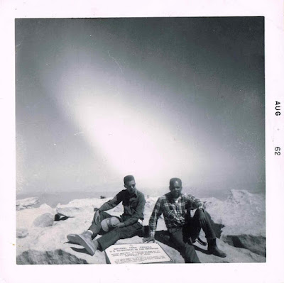 Mt. Whitney Summit - 1962 - Cliff and Loncy Hutson, from left