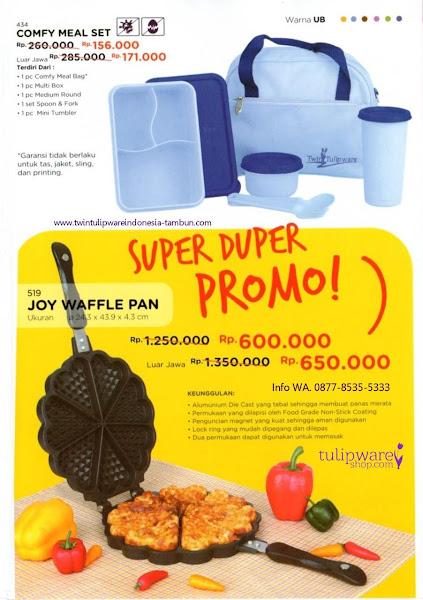 Promo Super Duper Tulipware Oktober 2018, Comfy Meal Set, Joy Waffle Pan