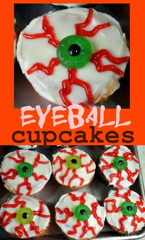 halloween bloodshot eyeball cupcakes