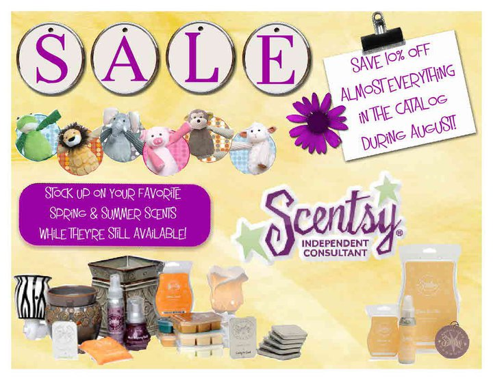 24291ef04a443 Scentsy Independent Consultant: August 10% Off Sale!!