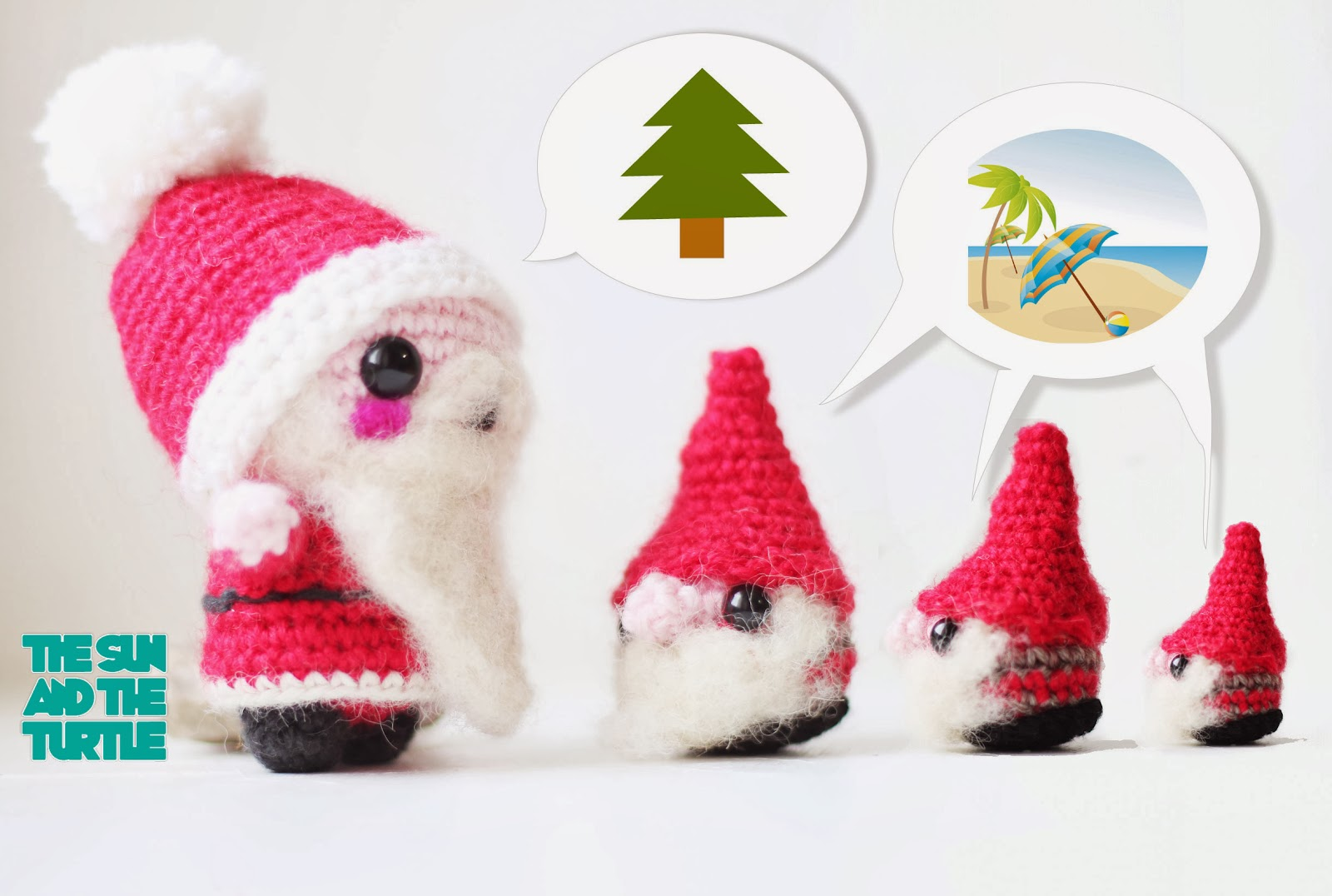 Christmas Gnome Amigurumi free pattern   The Sun and the Turtle
