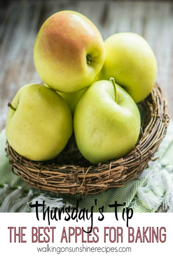 This week's tip is all about using the best apples for baking and for eating on Walking on Sunshine Recipes.