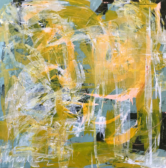 Expressionist abstract painting by French Atlanta local artist Isabelle Gautier