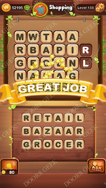 Word Bright Level 133 Answers, Cheats, Solutions, Walkthrough for android, iphone, ipad and ipod