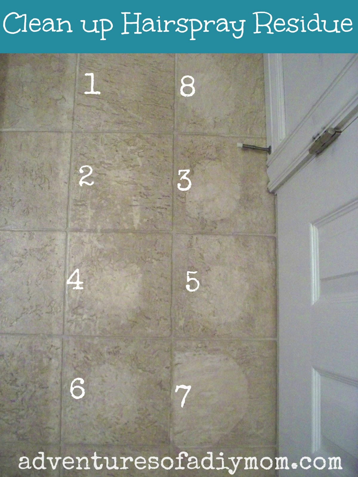 How To Remove Hairspray Residue From Floor Adventures Of A DIY Mom - Best way to clean bathroom wall tiles