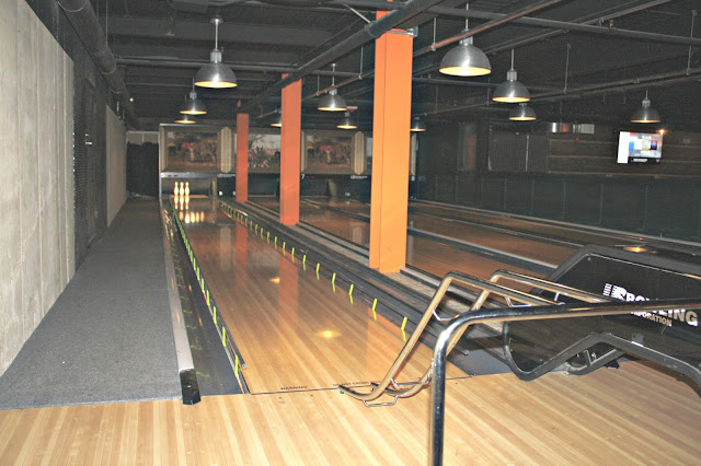 Ramps and bumpers help the youngest bowlers at Punch Bowl Social