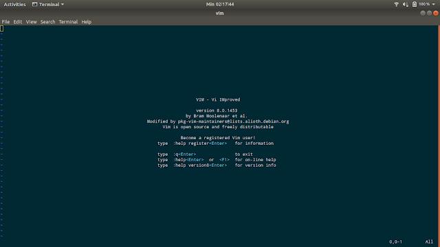 Belajar menggunakan VIM dengan terminal