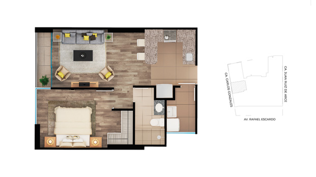 Planos departamentos de 42m2 planos de casas gratis y for Planos de departamentos de 40m2